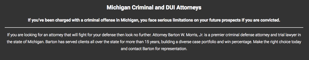 Michigan Criminal and DUI Attorneys